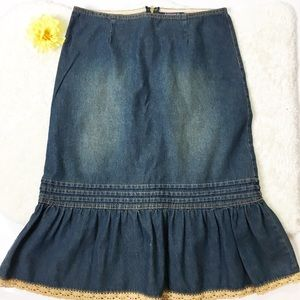 90's Juniors Western Denim Jean Skirt 5/6